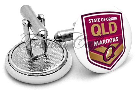 Queensland State of Origin Cufflinks - Angled View