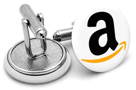 Amazon Logo Cufflinks - Angled View