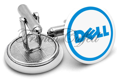 Dell Computers Logo Cufflinks - Angled View