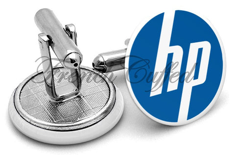 Hewlett Packard HP Cufflinks - Angled View