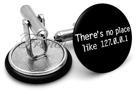 IP  Address No Place Cufflinks - Angled View