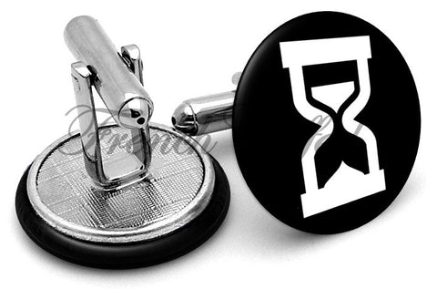 Hour Glass Cufflinks - Angled View