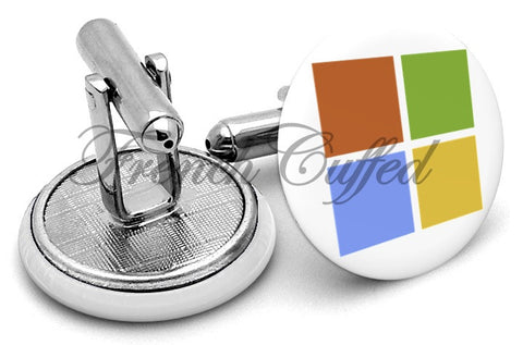 Microsoft New Logo Cufflinks - Angled View