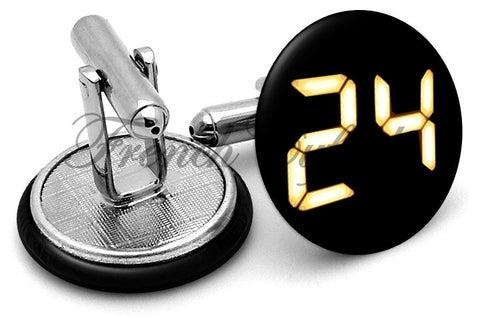 24 Jack Bauer Logo Cufflinks - Angled View