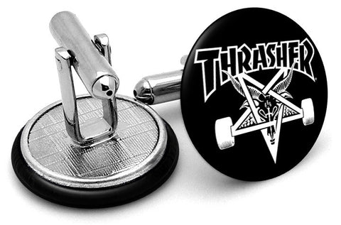 Thrasher Skateboard Cufflinks