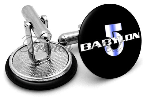 Babylon 5 Logo Cufflinks - Angled View