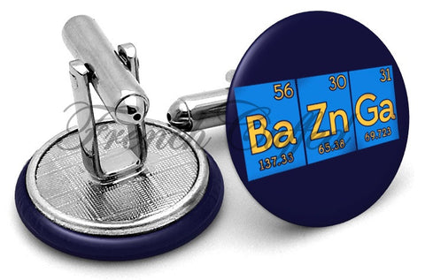 BaZnGa Big Bang Theory Cufflinks - Angled View