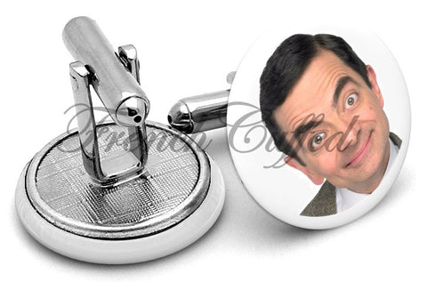 Mr Bean Rowan Atkinson Cufflinks - Angled View