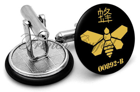 Breaking Bad Methylamine Bee Cufflinks - Angled View