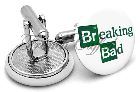 Breaking Bad Cufflinks - Angled View