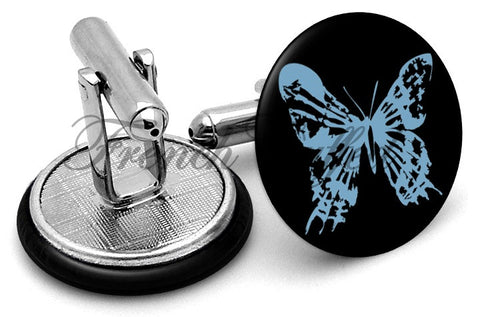 Fringe Butterfly Cufflinks - Angled View