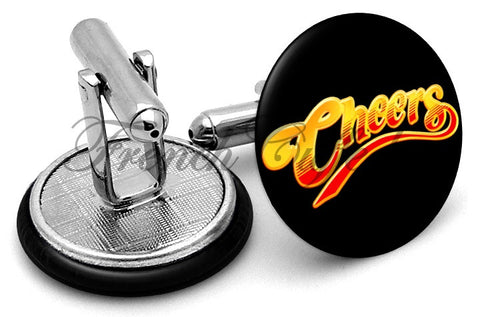 Cheers Logo Cufflinks - Angled View
