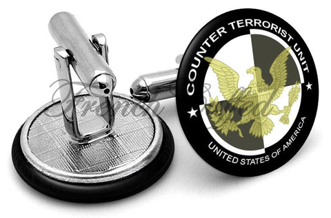 CTU Counter Terrorist Unit Cufflinks - Angled View
