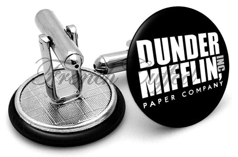 Dunder Mifflin The Office Cufflinks - Angled View