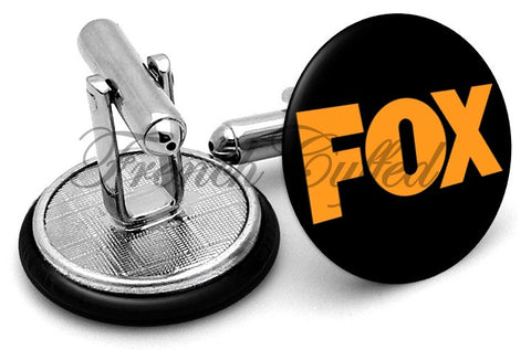 FOX TV Station Cufflinks - Angled View