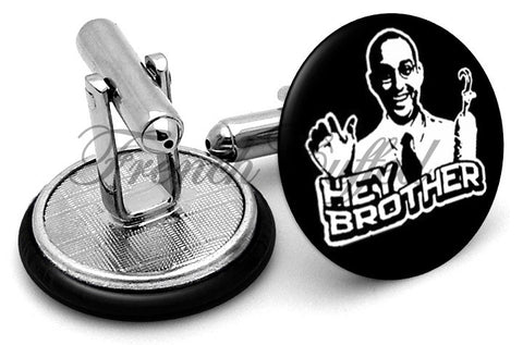 Arrested Development Hey Brother Cufflinks - Angled View