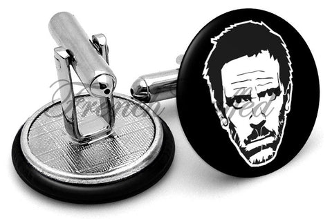 House TV Show Cufflinks - Angled View