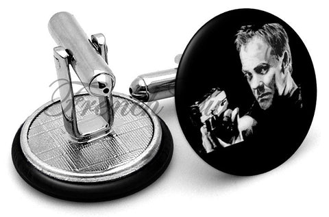 Jack Bauer 24 Cufflinks - Angled View