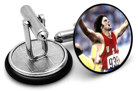 Bruce Jenner Olympics Cufflinks - Angled View