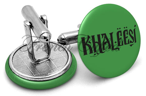 Game Thrones Khaleesi Cufflinks - Angled View