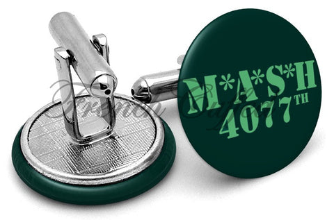 MASH 4077 Episode Cufflinks - Angled View