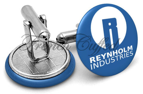 IT Crowd Reynholm Industries Cufflinks - Angled View