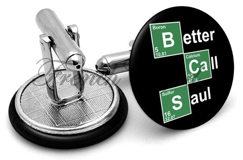 Better Call Saul Cufflinks - Angled View