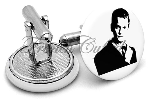 Barney Stinson Suit Up Cufflinks - Angled View