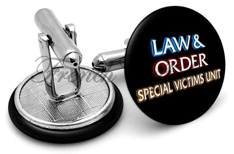 Law & Order SVU Cufflinks - Angled View