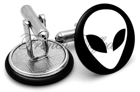 Alien Image Cufflinks - Angled View