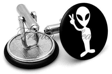 Alien Classic Cufflinks - Angled View