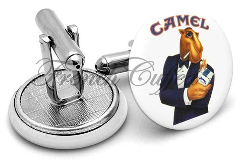 Joe Camel Cigarettes Cufflinks - Angled View