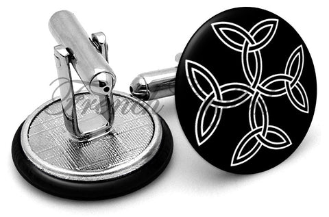 Celtic Cross Alternate Cufflinks - Angled View