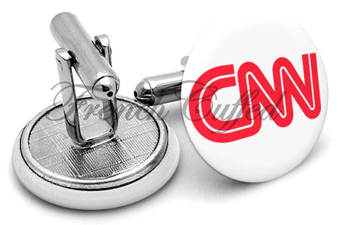 CNN Logo Cufflinks - Angled View