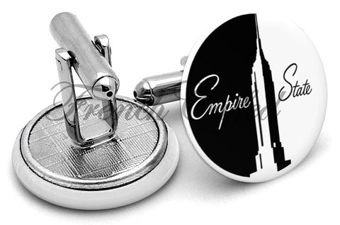 Empire State Building NYC Cufflinks - Angled View