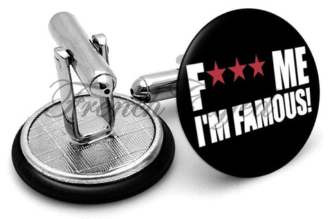 F*** Me I'm Famous Cufflinks - Angled View