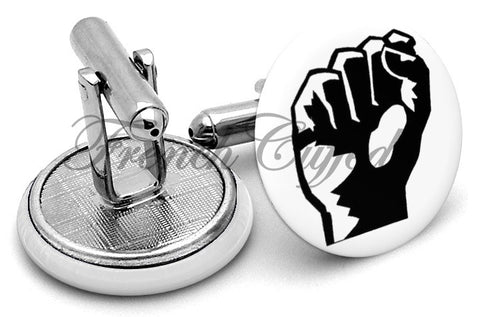 Iron Fist Cufflinks - Angled View
