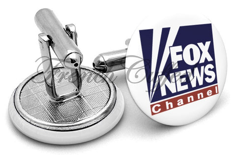 Fox News Channel Cufflinks - Angled View