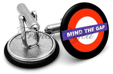 Mind The Gap Cufflinks - Angled View
