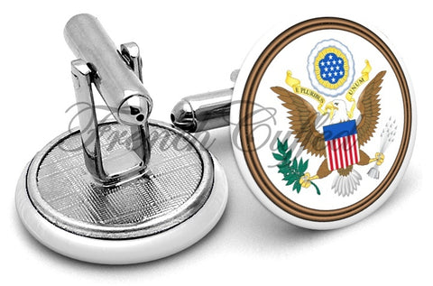 Great Seal USA Cufflinks - Angled View