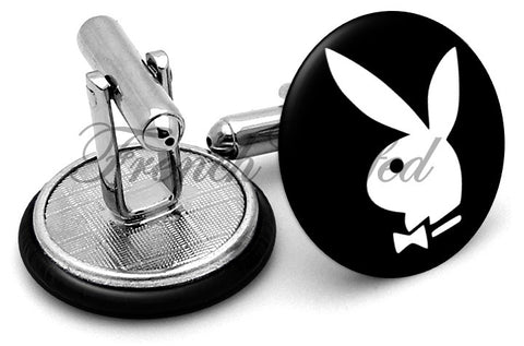 Playboy Cufflinks - Angled View