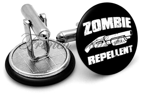 Zombie Repellent Cufflinks - Angled View