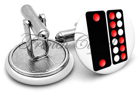 Pai Gow Tiles Cufflinks - Angled View