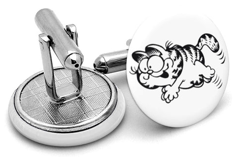 Garfield Black White Cufflinks