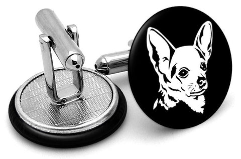 Chihuahua Dog Cufflinks