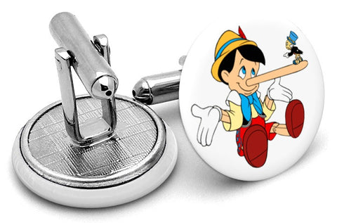 Pinocchio  and Jiminy Cricket Cufflinks