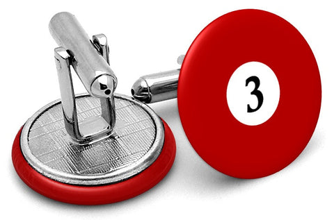 #3 Billiards Pool Ball Cufflinks