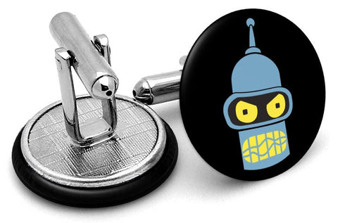 Bender Futurama Blue Cufflinks