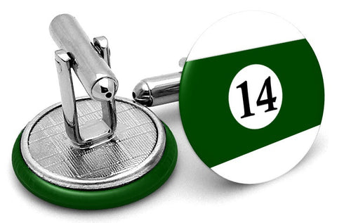 #14 Billiards Pool Ball Cufflinks