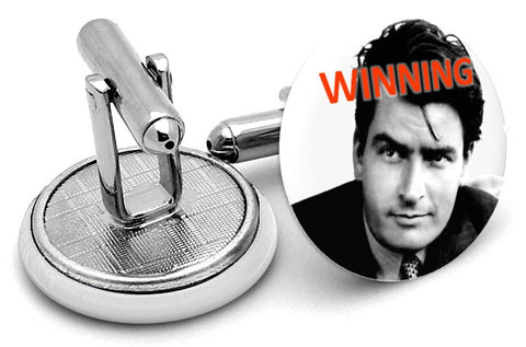 Charlie Sheen Winning Cufflinks